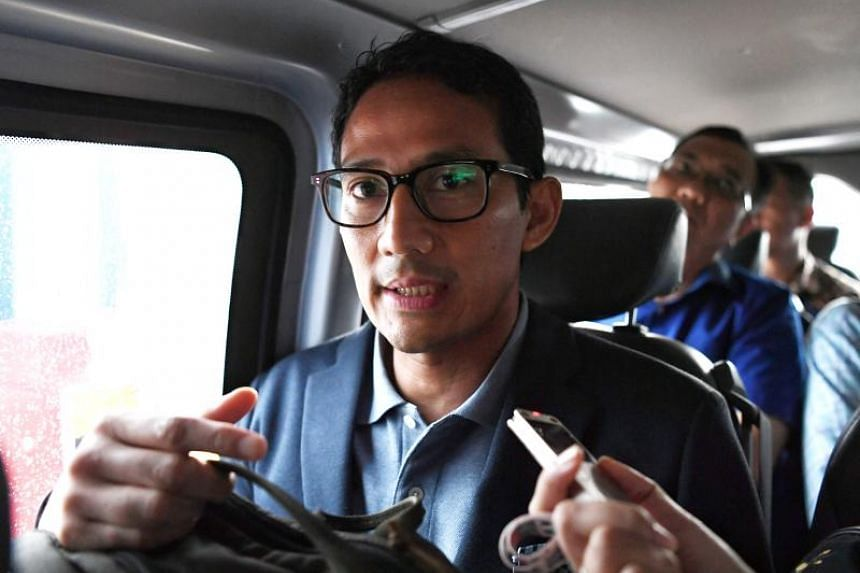 Former businessman Sandiaga Uno told The Straits Times that he was very shocked to be selected as retired three-star general Prabowo Subianto's running mate for the upcoming presidential election.