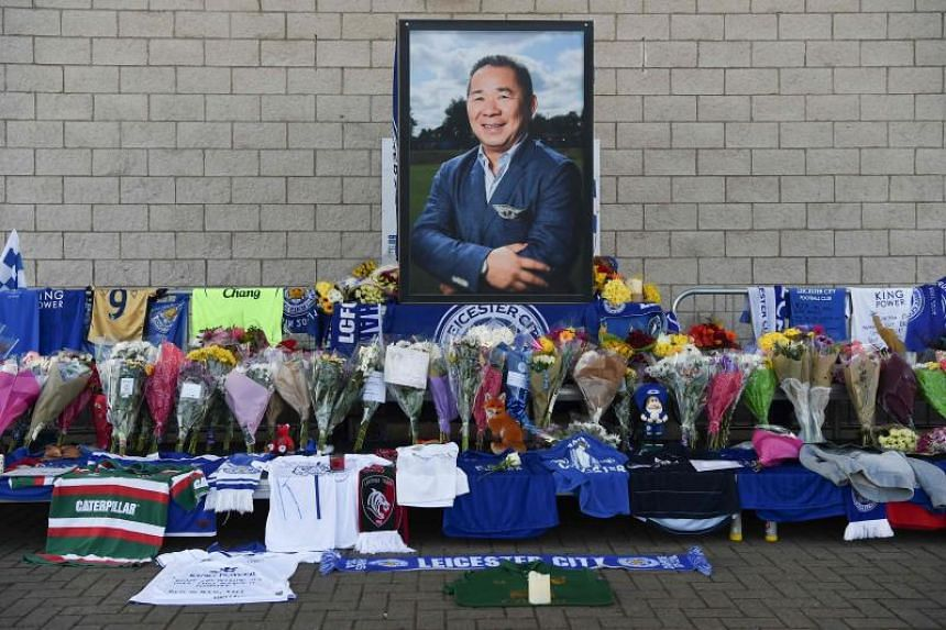 Leicester City's chairman Vichai Srivaddhanaprabha was among five people killed when their helicopter crashed and burst into flames in the Premier League side's stadium car park moments after taking off from the pitch on Oct 28, 2018.