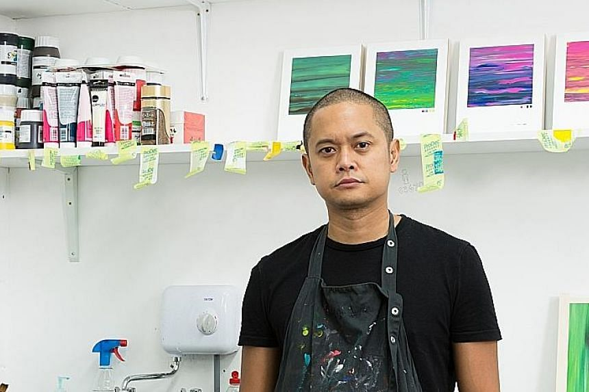 Ashidiq Ghazali dabbled in art in his polytechnic days, but started teaching himself to paint on canvas only three years ago.