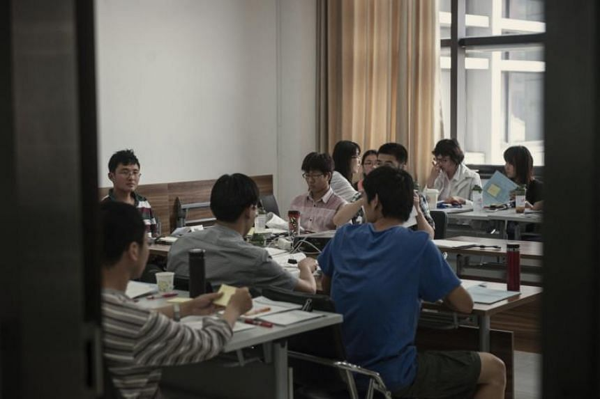 Students in a class at Renmin University in Beijing, on May 31, 2013.