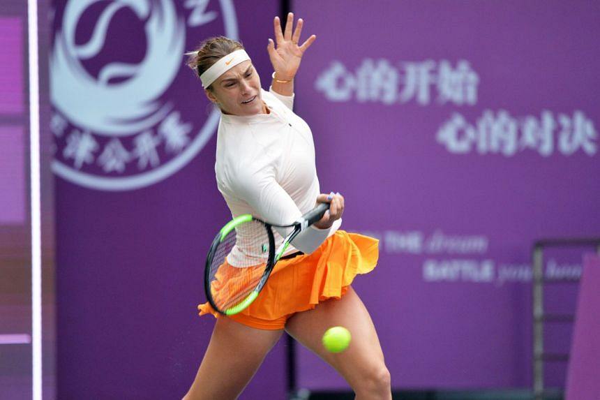 Aryna Sabalenka produced some typically aggressive tennis in Zhuhai, showing the form that has seen her shoot up the world rankings from 39th to 12th place in just three months.
