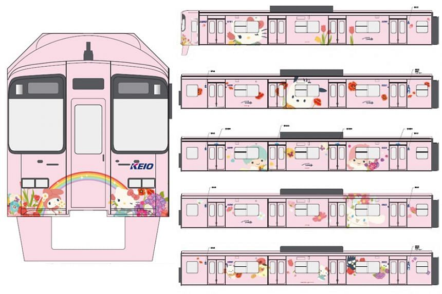 The new Hello Kitty trains will be deployed on the Keio Line, one of Tokyo's major train lines.