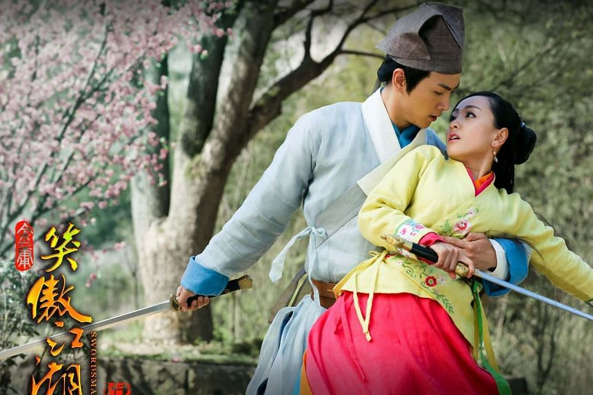 Hunan Television's 2013 production of The Legendary Swordsman titled Swordsman, features Chen Xiao (left) and Yang Rong.
