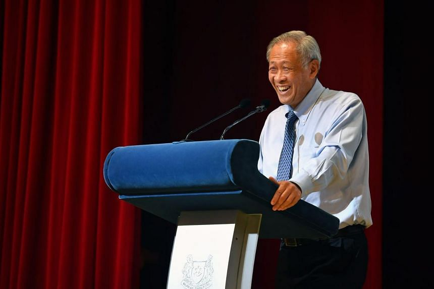 Defence Minister Ng Eng Hen speaking at the Defence Technology Prize Award Ceremony at DSO National Laboratories on Oct 30, 2018.