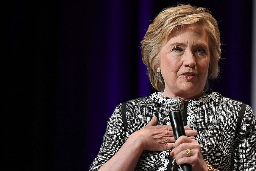 """Mrs Hillary Clinton initially said """"no"""" when asked whether she wanted to run for president again. She then paused and repeated """"no"""", apparently with a slight hesitation."""
