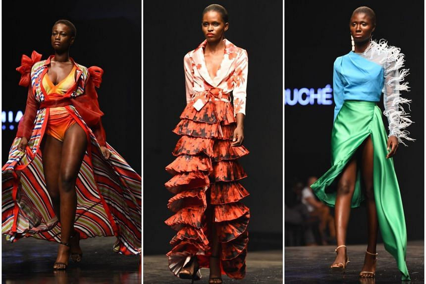 On show at Lagos Fashion Week, which ended last Saturday, were creations by designers (from far left) Cynthia Abila, Hephzibah and Fruche.