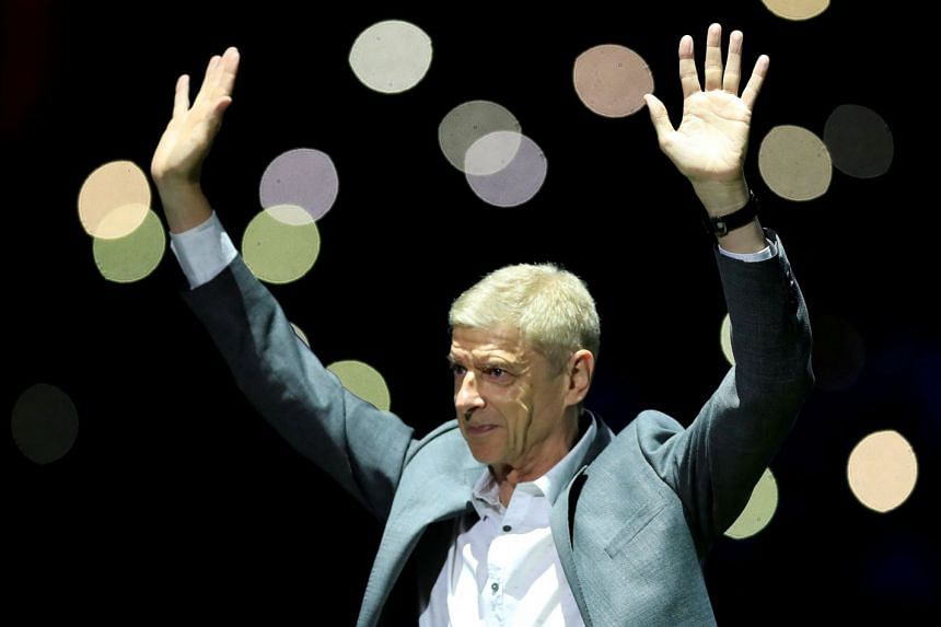 Wenger (above, in a file photo) says he is pleased with Arsenal's start to the season.