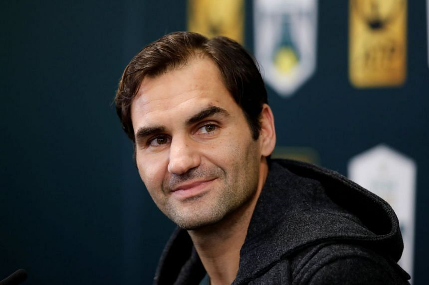 Switzerland's Roger Federer during a press conference on Oct 30, 2018..