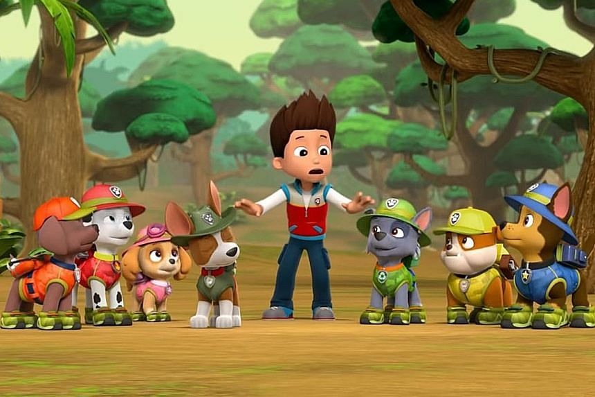 In Paw Patrol, a 10-year-old boy named Ryder organises a team of puppies with oversized eyes and paws and real-world jobs like firefighter or police officer.