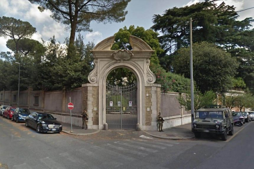 During restoration works in a space annexed to the Apostolic Nunciature of Italy fragments of human bone were found.