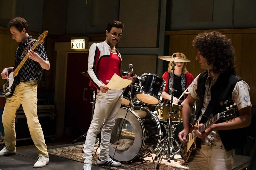 (From left) Bohemian Rhapsody features Joseph Mazzello as John Deacon, Rami Malek as Freddie Mercury, Ben Hardy as Roger Taylor and Gwilym Lee as Brian May and will be released on Nov 1, 2018.