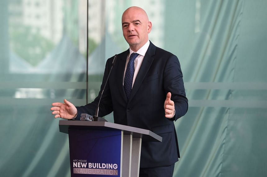 Fifa president Gianni Infantino speaks during the inauguration of the Asian Football Confederation headquarters in Kuala Lumpur on Oct 30, 2018.