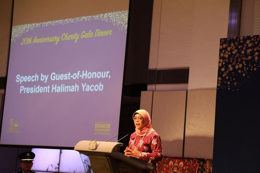 President Halimah Yacob noted that seniors are likely to be able to volunteer more frequently and over a longer period of time as they may have fewer duties and responsibilities at home.