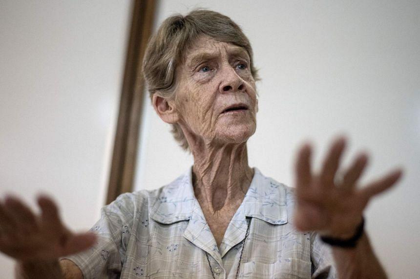 Australian nun Patricia Fox at a press conference in Manila, on Jul 20, 2018.