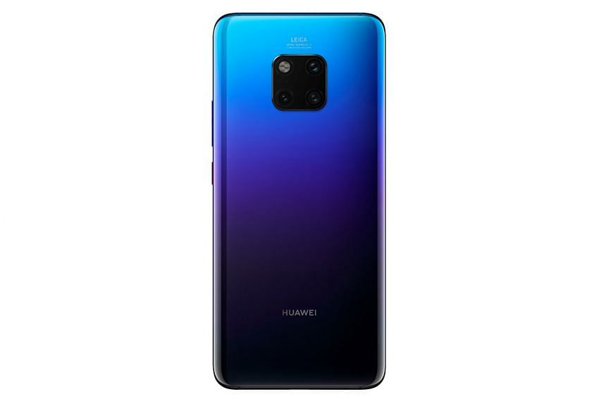 The Huawei Mate 20 Pro features a flash module and three Leica-made cameras on its rear.