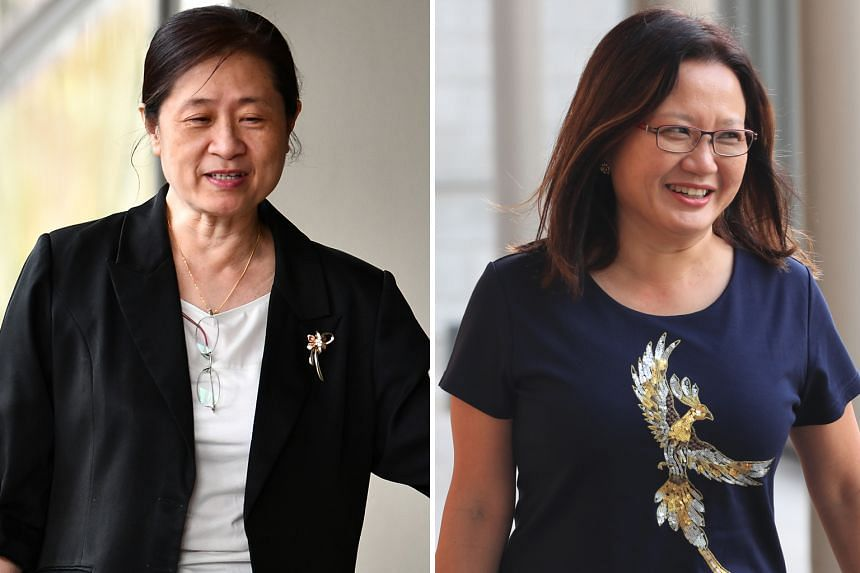 Ms How Weng Fan (left) said she recorded a 2016 phone call with a KPMG executive, in which she called WP chairman Sylvia Lim (right) hopeless, and then volunteered the recording as evidence.