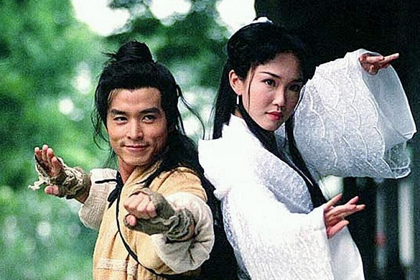 Idy Chan and Andy Lau (both above) in TVB's The Return Of The Condor Heroes (1983), and Christopher Lee and Fann Wong (both right) in Singapore's 1998 version of the same name. Dicky Cheung and Annie Wu (both above) in The Duke Of Mount Deer (2000).