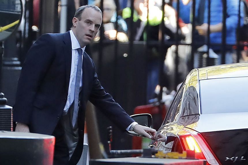 """Raab (above) is to visit the UK province of Northern Ireland on a """"fact-finding trip""""."""