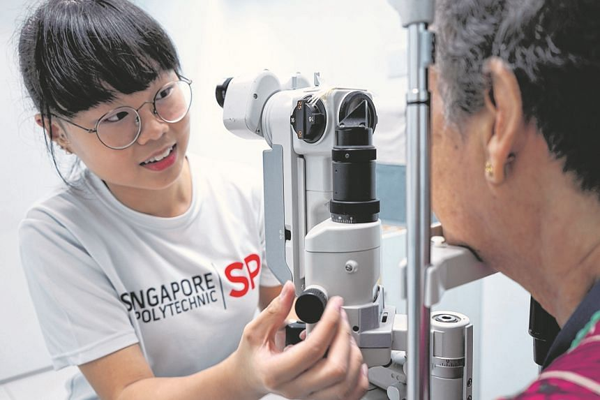 Ms Tan Li Min was inspired to take up Opticianry at the Institute of Technical Education because of her grandparents' experiences with poor eyesight.