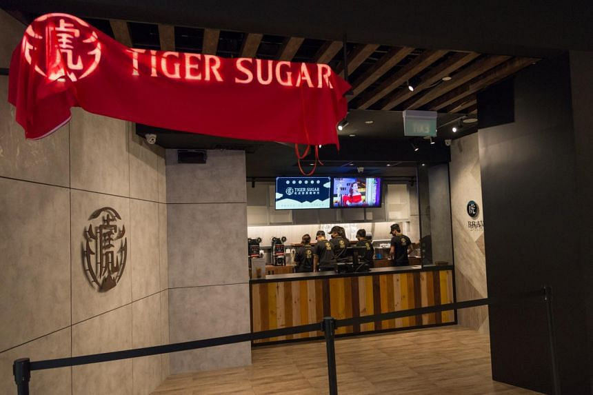 A view of Tiger Sugar's flagship store in Capitol Piazza, which will open on Nov 3, 2018.