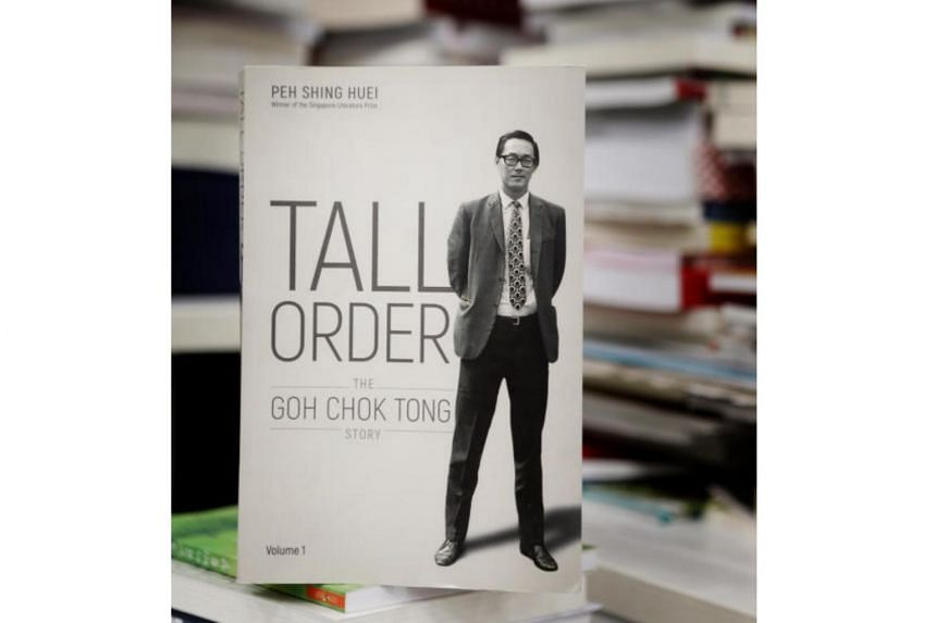 The biography titled Tall Order: The Goh Chok Tong Story is written by former Straits Times news editor Peh Shing Huei.