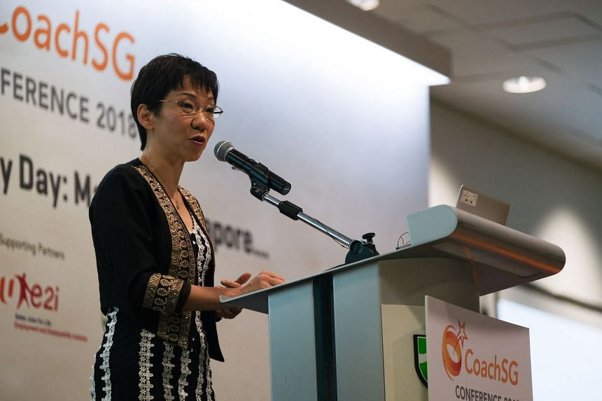 Minister for Culture, Community and Youth Grace Fu announced the introduction of the SafeSport commission at the CoachSG conference at Republic Polytechnic on Oct 31, 2018.