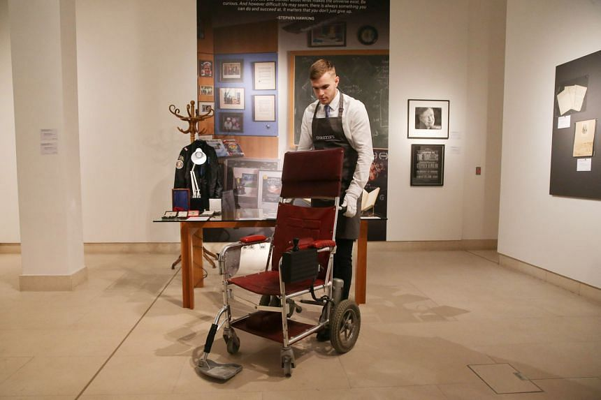 Up for auction is the motorised wheelchair used by the late British physicist Stephen Hawking.