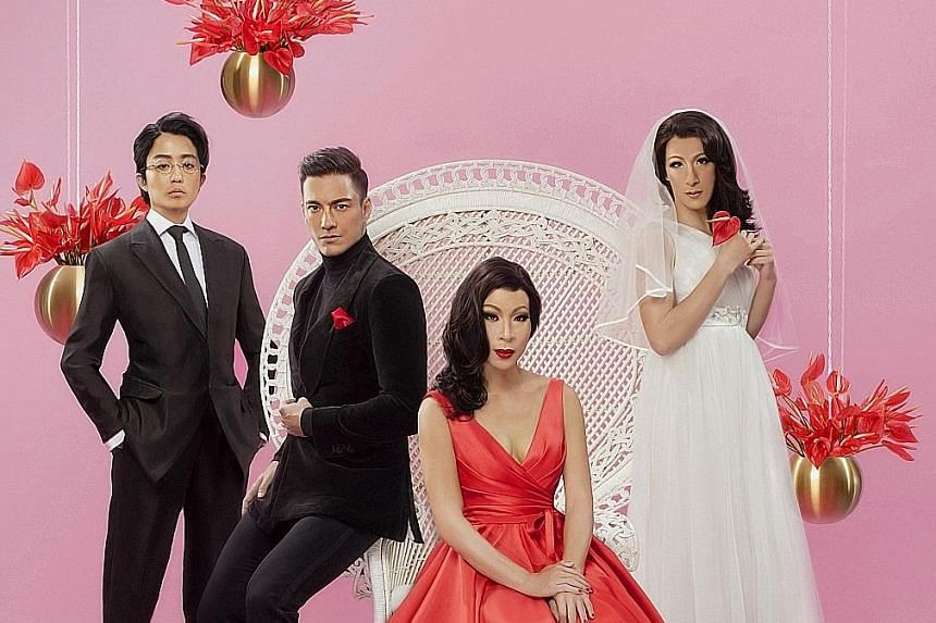 The cast of Private Parts includes (from far left) Zee Wong, Jason Godfrey, Chua Enlai and Shane Mardjuki. The cast of Fat Kids Are Harder To Kidnap X (above).