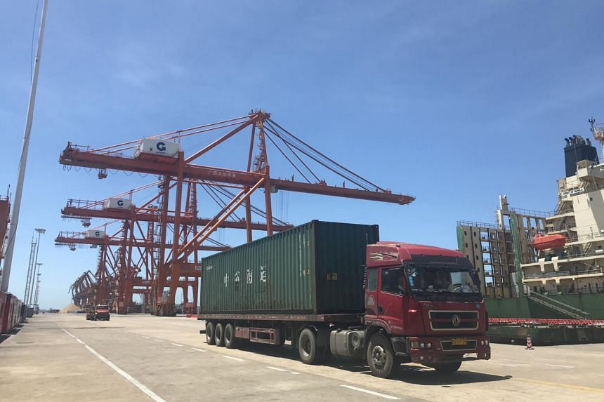 The Beibu Gulf-PSA International Container Terminal in China.