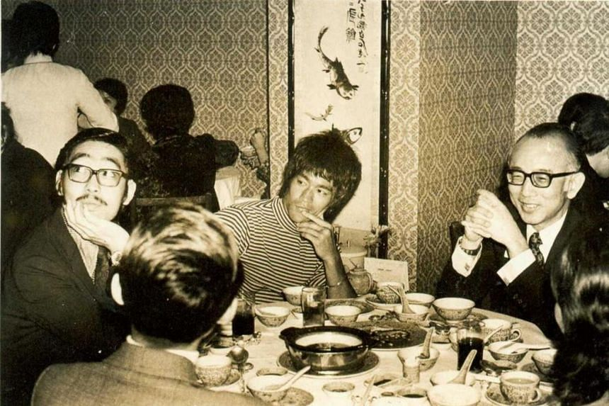 (From left) Television producer Robert Chua, actor Bruce Lee and Mr Raymond Chow at a lunch session in 1972.