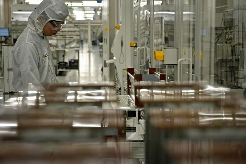 Both overall manufacturing and the electronics sector saw slower growth in new orders, new exports, factory output, inventory and employment level, said the Singapore Institute of Purchasing and Materials Management.