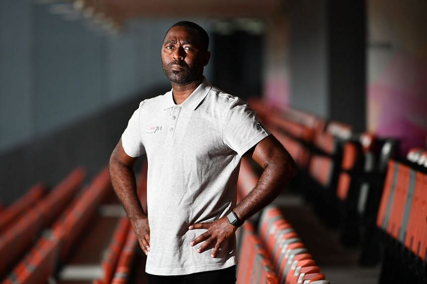 Former Manchester United striker Andy Cole at Our Tampines Hub on Nov 1, 2018.