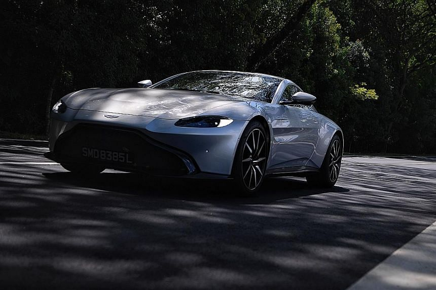 The Aston Martin Vantage is sublimely balanced, with excellent road-holding.