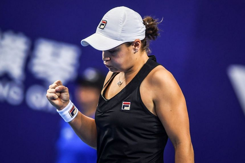 Ashleigh Barty dominated the third set to book her place in Sunday's (Nov 4) showdown in Zhuhai.