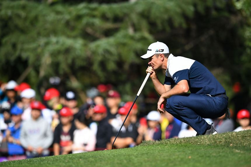 Rose lines up a shot during the final round of the WGC-HSBC Champions tournament in Shanghai.