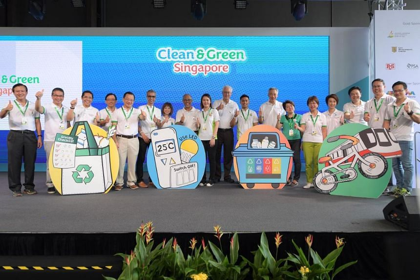 Prime Minister Lee Hsien Loong emphasised the threat of climate change and the steps Singapore has to take in order to combat this threat at the Clean and Green Singapore launch ceremony at Wisma Geylang Serai, on Nov 3, 2018.