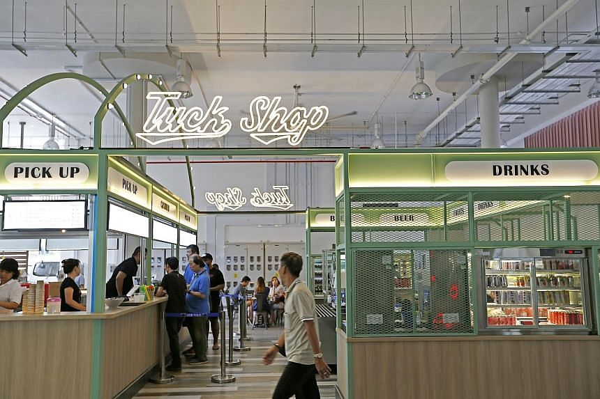 """Yishun Park Hawker Centre, run by the Timbre Group, opened in September last year. Mr Edward Chia, managing director of the group, said it wanted """"to provide a platform for incubation of new hawker talent"""". Minister for the Environment and Water Reso"""