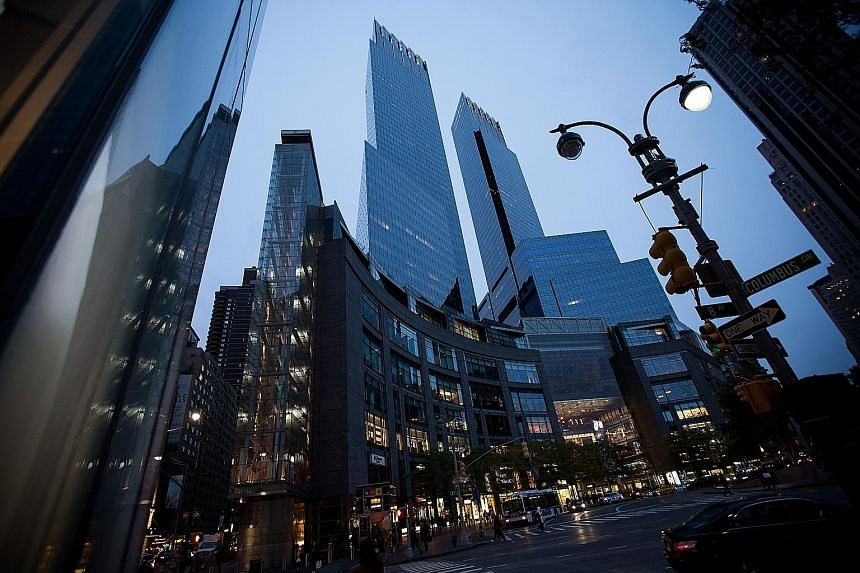 Previously unreported details of a meeting between then Malaysian Prime Minister Najib Razak and a senior Goldman Sachs Group official at Time Warner Centre (above) in New York could prove damaging for the bank. Also present at the meeting were then