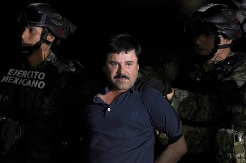 """Joaquin """"El Chapo"""" Guzman (pictured) has been branded the world's biggest drug lord since Colombia's Pablo Escobar."""