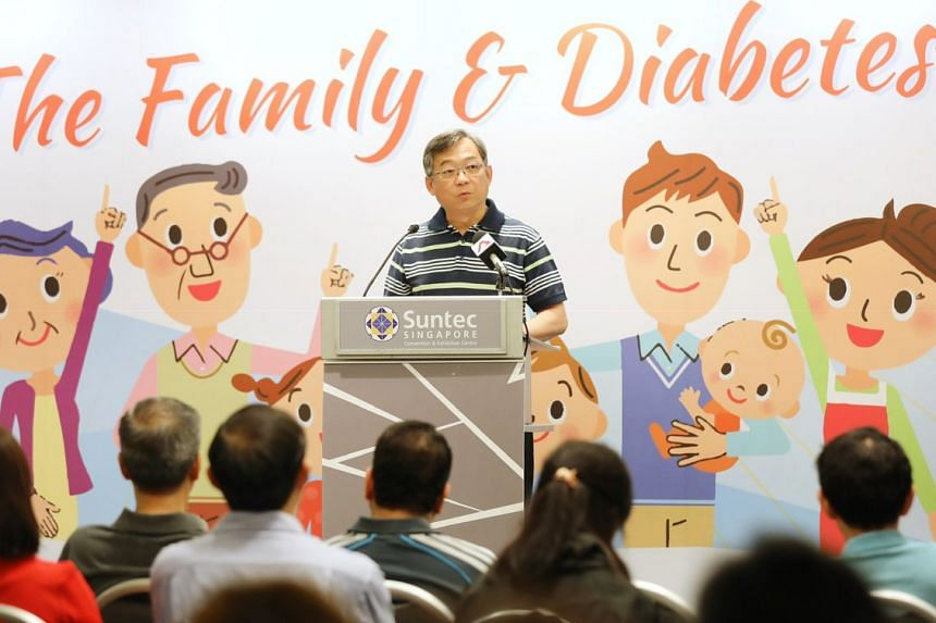 Health Minister Gan Kim Yong speaks at the opening ceremony of World Diabetes Day on Nov 4, 2018.