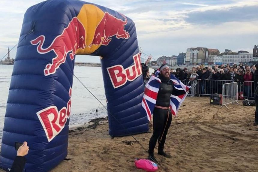 Ross Edgley completed a 1,780 mile-trip to make a triumphant return to dry land in Margate on Nov 4, 2018.