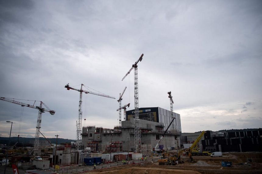 The International Thermonuclear Experimental Reactor (ITER) construction site in Cadarache, Framce, where the Tokamak, a confinement device being developed to produce controlled thermonuclear fusion power, will be installed.