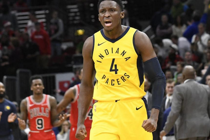 Victor Oladipo finished with 24 points and 12 rebounds for the Indiana Pacers, who trailed by four points with 37 seconds to go before charging back.