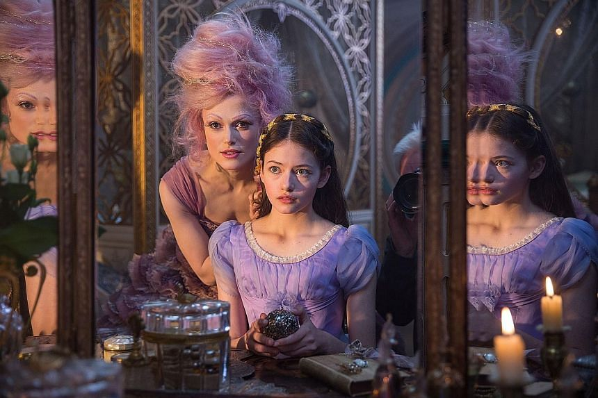"""Keira Knightley as the Sugar Plum Fairy with the """"deliberately silly voice"""", with Mackenzie Foy in The Nutcracker And The Four Realms."""
