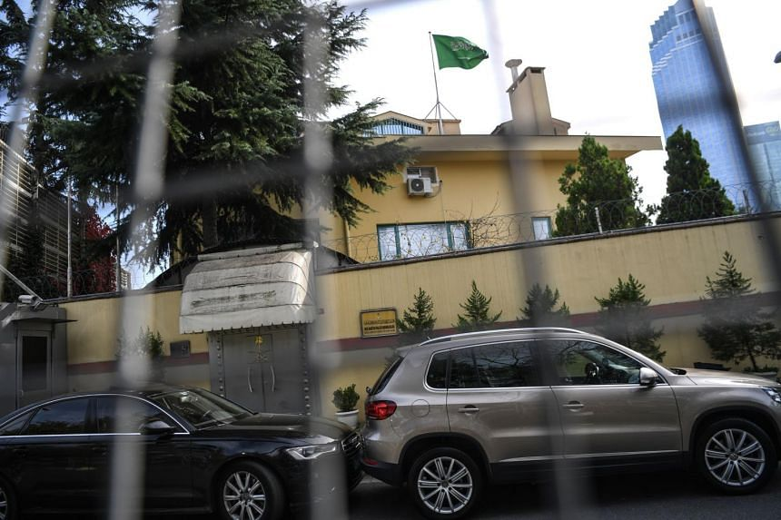 Saudi Arabia's consulate in Istanbul, where journalist Jamal Khashoggi was murdered. Riyadh has so far declined to release details of the whereabouts of the 59-year-old's missing body.