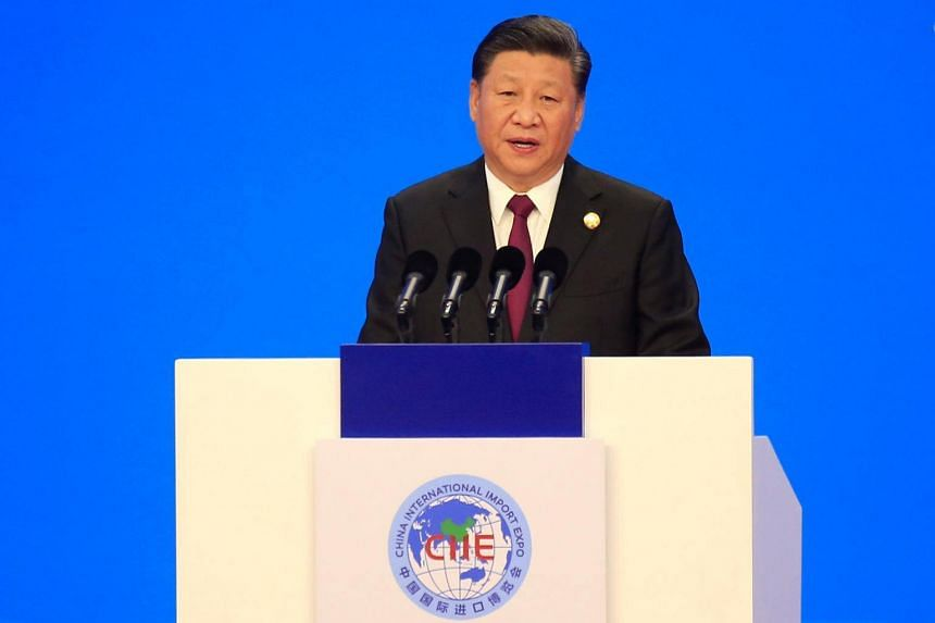 Chinese President Xi Jinping promised lower tariffs and broader market access at a week-long trade expo on Nov 5, 2018.
