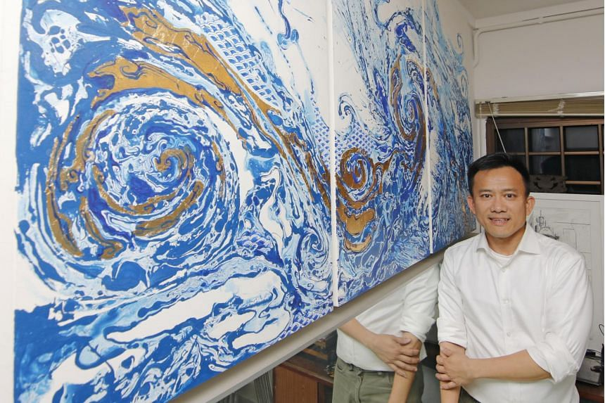 Property agent Nick Lim has more than 30 pieces, which range from a $40 oil painting of a padi field from Bali to works in the $12,000 range.