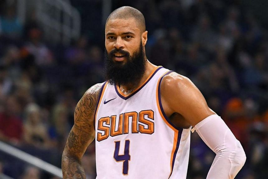 Tyson Chandler averaged 3.7 points and 5.6 rebounds in seven games for the Suns this season.