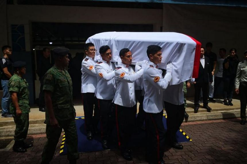 CFC Liu Kai, who was posthumously accorded the rank of CFC, was given a military funeral on Tuesday (Nov 6).