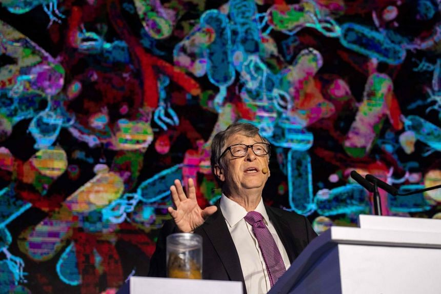 Microsoft founder Bill Gates tried to draw attention to the lack of toilets in developing countries with a jar of human waste during a forum in Beijing on Nov 6, 2018.